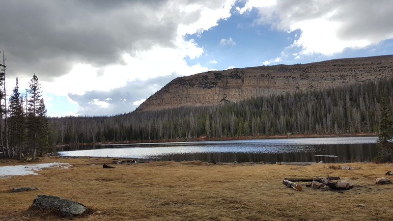 Haystack Lake in the Uinta Mountains of Utah.